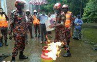 কোটচাঁদপুর খাদ্য গুদামে ফায়ার সার্ভিসের অগ্নিনির্বাপক মহড়া অনুষ্ঠিত