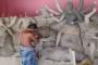 দেবহাটায় ২১ টি পূজা মণ্ডপের চলছে  প্রতিমা তৈরীর কাজ