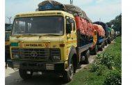 বেনাপোলে শত শত রফতানি পণ্য বোঝাই ট্রাক আটকে পড়েছে